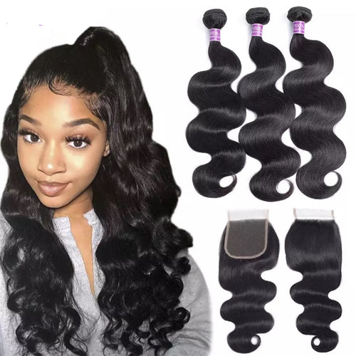 Lustrous Body Wave Bundles and Closure