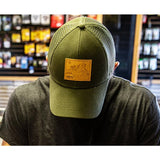 Elk Leather Patch Trucker Hat