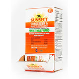 Sunsect, 3oz Foil Pack, (50 CT), Insect Repellent/SunScreen