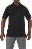 BLACK, PROFESSIONAL POLO SHORT SLEEVE, 3XL