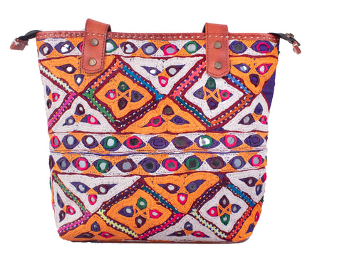 TOTE BAG - Rabari Work Embroidery Leather Craft