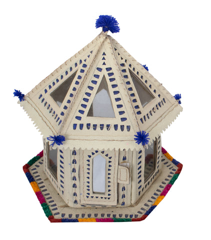 NIGHT LAMP - BHUNGA - A  Traditional Kutchhi Home- Leather Craft Punch Work