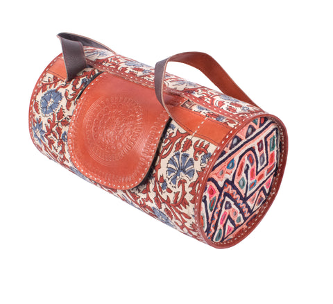 SLING BAG - Dholki-Leather punch Work With Handwork And Cotton