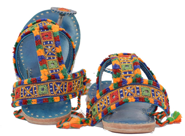 Hand Embroidery Pure Leather Kutchhi Chappal