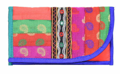 Cut Wallet - Neran Work Embroidery and Strip Work