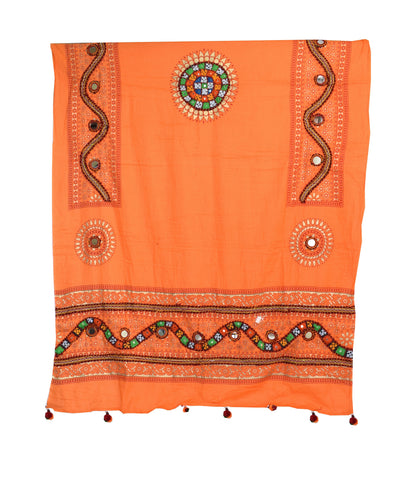Mirror Work - Cotton Silk - Gamthi Dupatta Dupatta