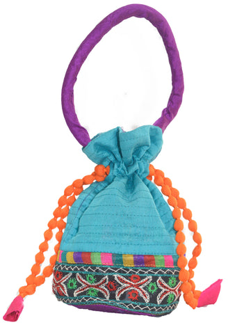 Batva purse With kutchi embroidery border