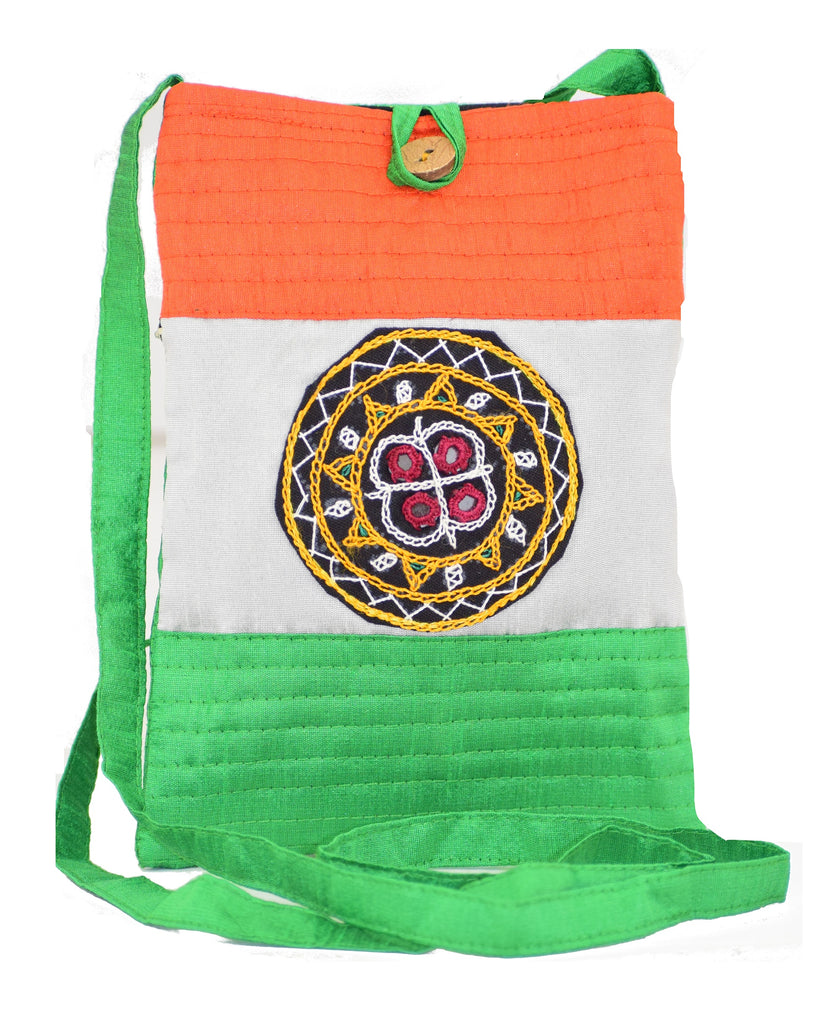 Aahir Work Patchwork Tri Colour