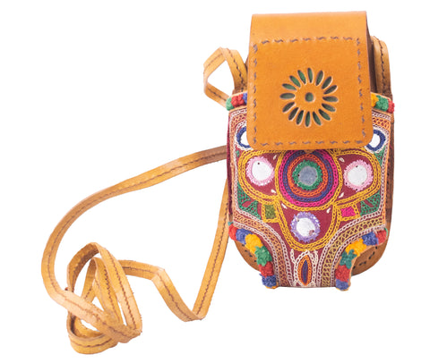 MOBILE COVER - Rabari Work Embroidery Leather Craft