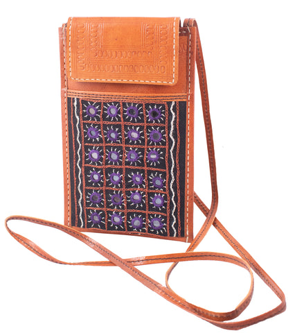 MOBILE COVER - Aabhala Work Embroidery Leather Craft