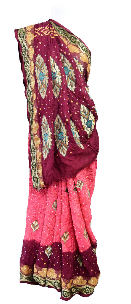 Modal Silk Natural dye Saree Kutchhi Print Ajrakh Hand Print Vegetable Dye Sari Heavy Work Saree Block Print Crepe Chanderi Gadhwal Art Silk Saree Khadi Print Batik Print Traditional Ethnic Wear Saree