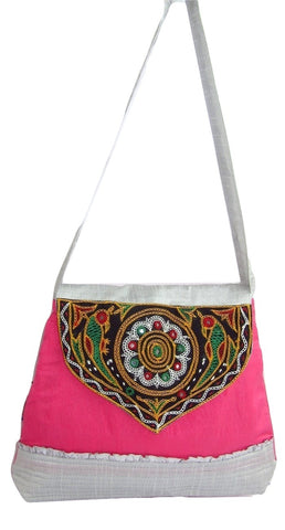 Big Flapper Purse with Kutchhi Patch work front face