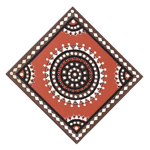WALL HANGING - 12x12 In-A Kutchhi Lippan Kam ( Mud Art Handicraft)
