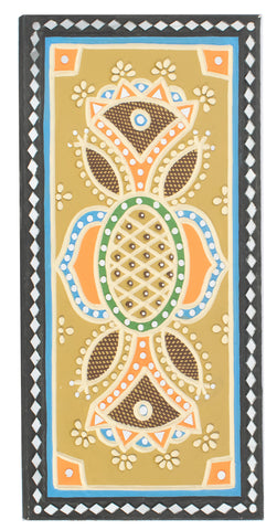 Lippan Kam Mud work Kutch Handicraft Mirror Clay Work Home Interior Decoration Wall Mural Décor Hanging Traditional Indian Art Work Painting House Warming Vastu Feng Shui Ethnic Decorative Article