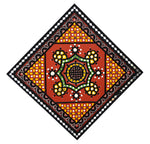 WALL HANGING - 18x18 In - A Kutchhi Lippan Kam ( Mud Art Handicraft)