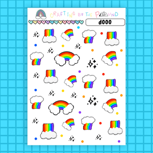 Over The Rainbow Decorative Stickers (d000)