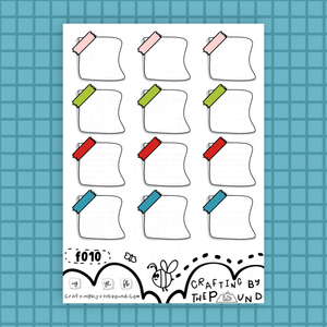 Airhead Letter Boxes Sticker Sheet (f010)