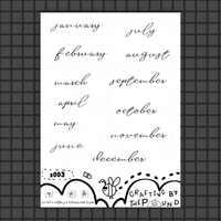 Bold Month Script Headers Sticker Sheet