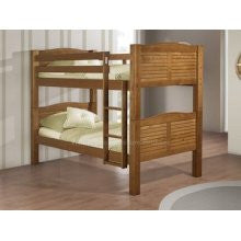 Linon Bunk Bed With Shutter Honey Pecan 90066nn50 A Kd The