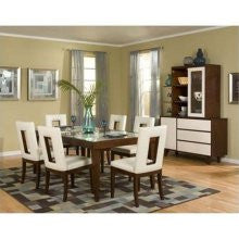 najarian furniture enzo 5 piece dining table set in cherrywhite