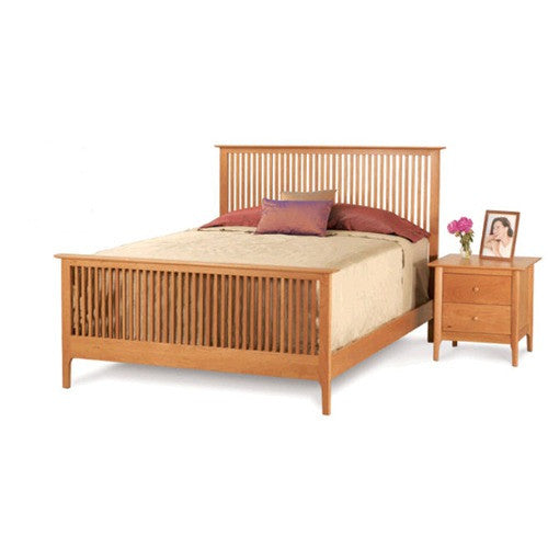 sarah spindle bed with high footboard by copeland furniture 1srh1 - Copeland Furniture