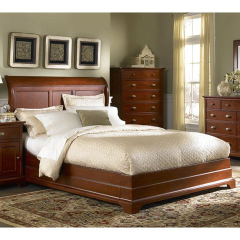 American Classic Full Sleigh Bed By Cresent Furniture | 1432FF / 1432FH /  1432FR