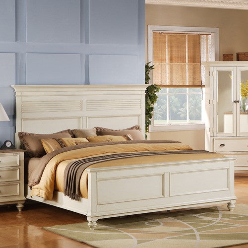 Coventry Two Tone Panel Bed In Dover White By Riverside Furniture | 32575 /  32585