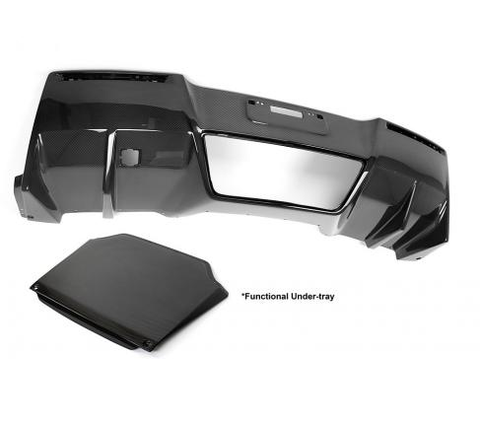 Chevrolet Corvette C7 Carbon Fiber Rear Diffuser 2014-Up (With Under-Tray)