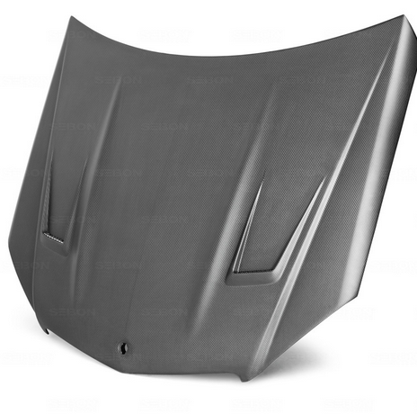 GT-style DRY CARBON hood for 2007-2011 Mercedes Benz C63