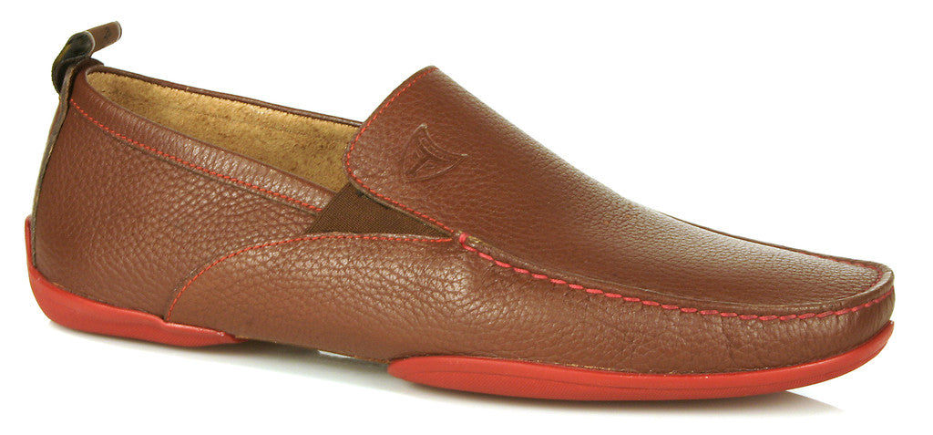 Michael Toschi Onda SE Brown Pebble with Red Sole