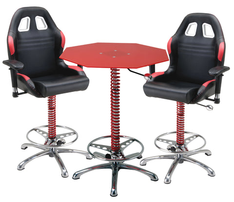 Pit Stop Furniture Crew Chief Bar Table & Bar Chairs Package