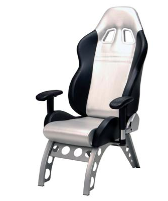 GT Series Receiver Chair Silver