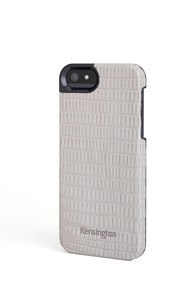 Kensington Vesto Leather Texture Case for iPhone 5 - Grey Lizard