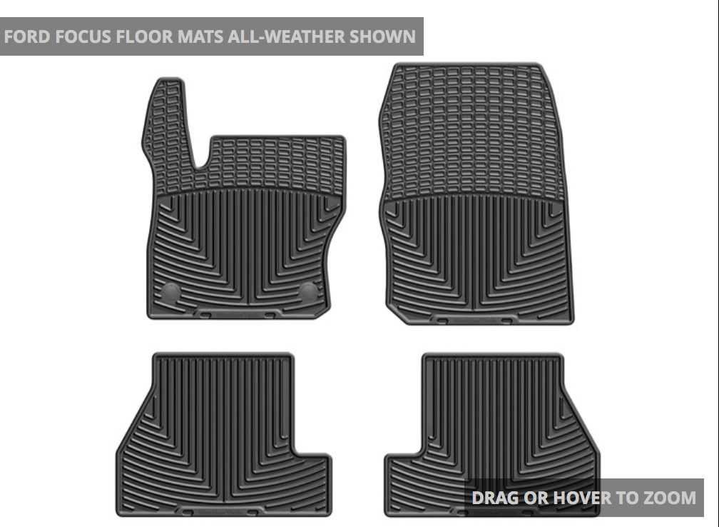 WeatherTech Ford Focus ST Rubber Mats Front and Back