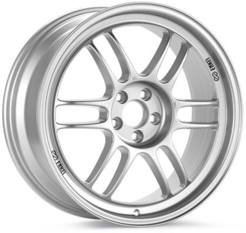 Enkei RPF1 17x9.5 5x114.3 18mm Offset 73mm Bore Silver Wheel