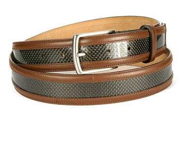 Michael Toschi Carbon Fiber Belt (Brown)
