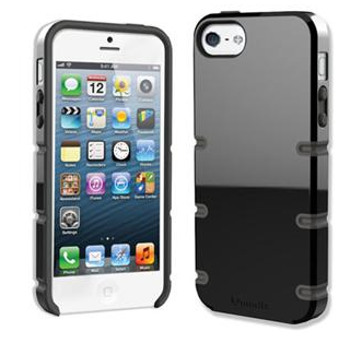 Qmadix Groove Cover Apple iPhone 5, Black-Gray