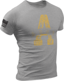 M.R.E. Clothing Graphic T-Shirt A for Army, Small / Light Gray - Good Friend Graphics