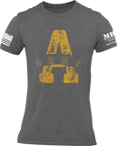M.R.E. Clothing Graphic T-Shirt A for Army, Small / Dark Gray - Good Friend Graphics