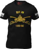 M.R.E. Clothing Graphic T-Shirt Best Job I Ever Had US Armor, Small / Black - Good Friend Graphics