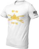 M.R.E. Clothing Graphic T-Shirt Best Job I Ever Had US Armor, Small / White - Good Friend Graphics