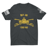 M.R.E. Clothing Graphic T-Shirt Best Job I Ever Had US Armor,  - Good Friend Graphics