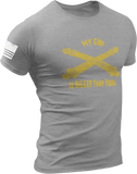 M.R.E. Clothing Graphic T-Shirt My Gun Is Bigger Than Yours US Artillery, Small / Light Gray - Good Friend Graphics