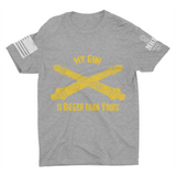 M.R.E. Clothing Graphic T-Shirt My Gun Is Bigger Than Yours US Artillery,  - Good Friend Graphics