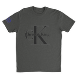 L.I.O.N. Apparel Graphic T-Shirt Christ is King, Small / Dark Gray - Good Friend Graphics