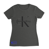 L.I.O.N. Apparel Graphic T-Shirt Christ is King, Women's Small / Dark Gray - Good Friend Graphics