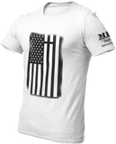 M.R.E. Clothing Graphic T-Shirt USA Flag with Cross,  - Good Friend Graphics