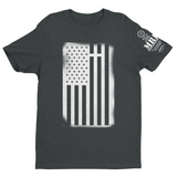 M.R.E. Clothing Graphic T-Shirt USA Flag with Cross, Small / Dark Gray - Good Friend Graphics
