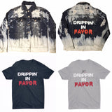 30:5 Drippin' In Favor Denim Jacket,  - Good Friend Graphics