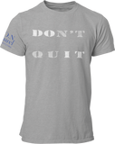 L.I.O.N. Apparel Graphic T-Shirt DOn't quIT, Small / Light Gray w/White - Good Friend Graphics